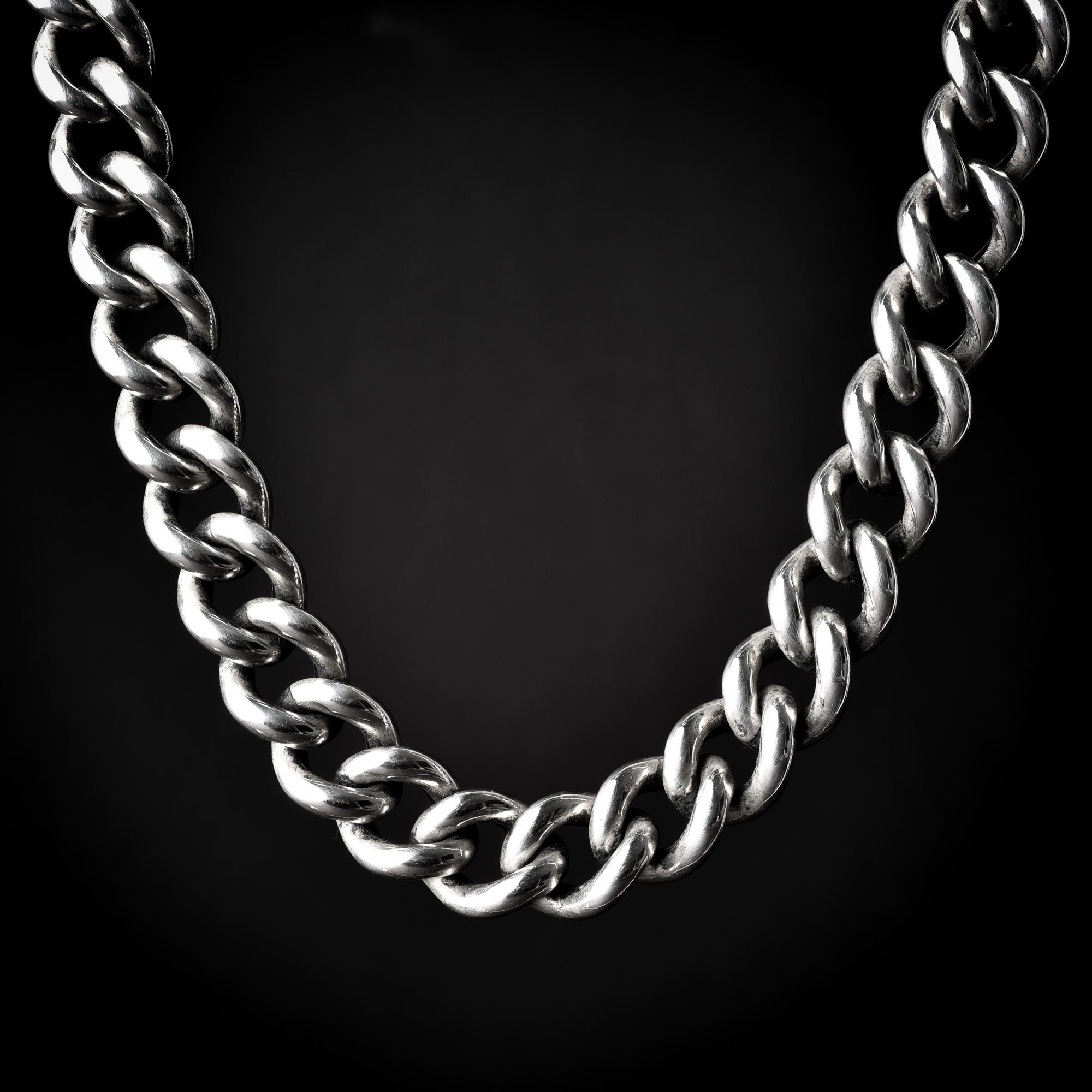 vintage p figaro chainlobster style chain clasp simple necklace with heavy silver cute minimalist large